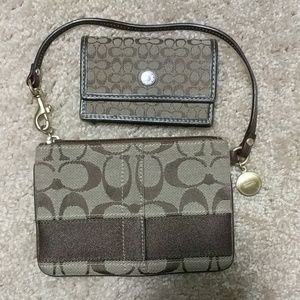 Coach Card Holder and Wristlet